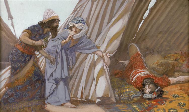 Jael Shows to Barak, Sisera Lying Dead, c.1896 - c.1902 - James Tissot
