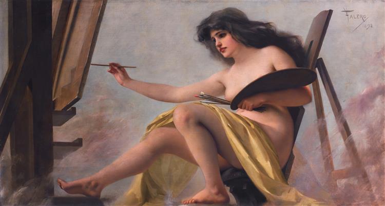 An Allegory of Art - Luis Ricardo Falero