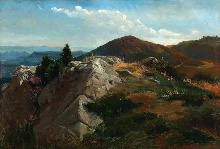 Mountain landscape - August Friedrich Schenck