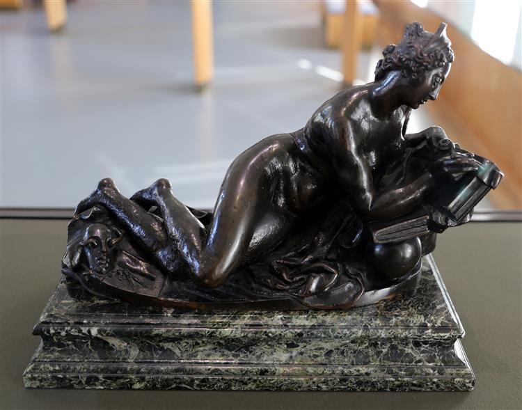 figura allegorica, forse la geometria e l'astronomia - Juan de Bolonia
