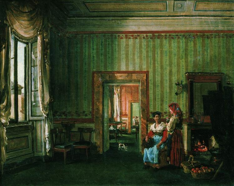 The Dining Room of the Galitzine House in Rome - Silvestr Shchedrín