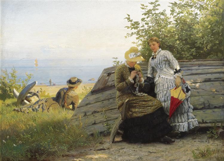 Ladies in the Sunshine - Hans Gude