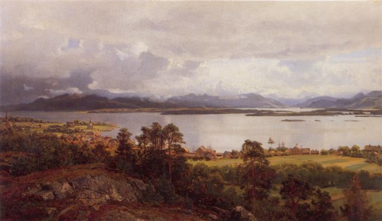 Molde Fra Utsikten - Hans Gude