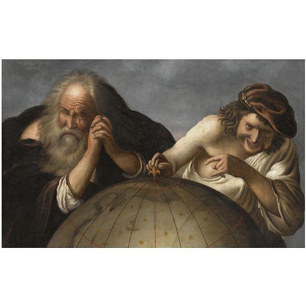Heraclitus and Democritus - Johannes Moreelse