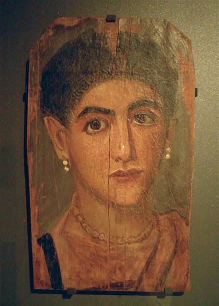 Portrait of a Woman - Fayum portrait
