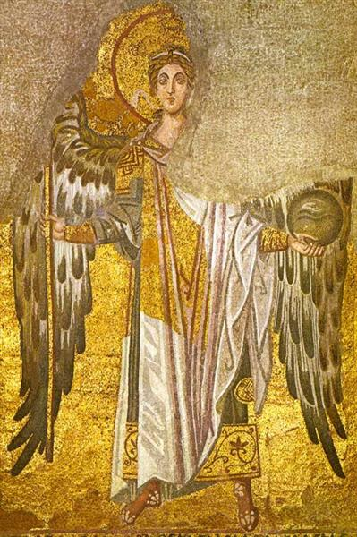 Angel Gabriel, Mosaic in the Hagia Sophia - Byzantine Mosaics