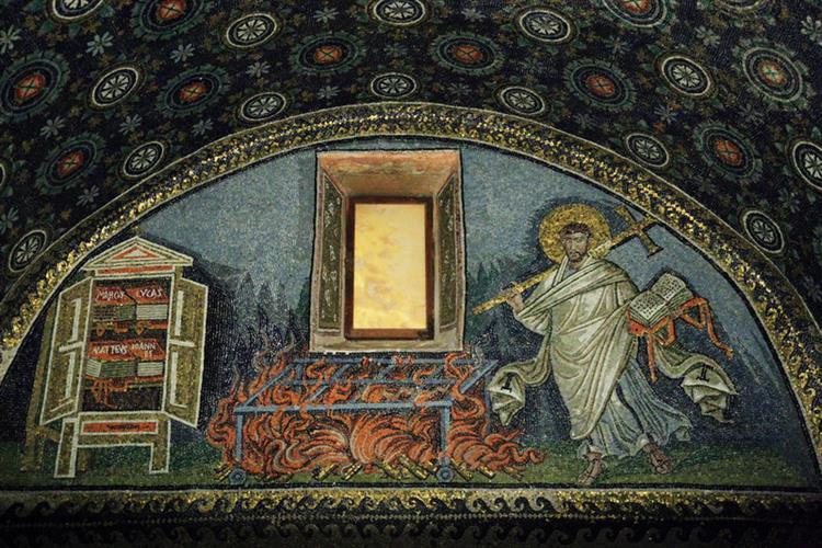 Martyrdom of St. Lawrence, c.425 - Byzantine Mosaics