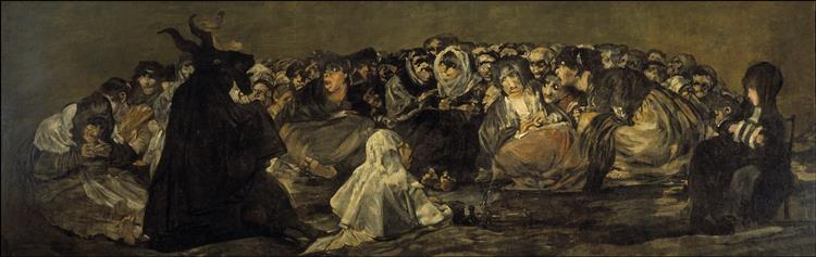 Witches' Sabbath / The Great He-Goat, 1821 - 1823 - Francisco Goya