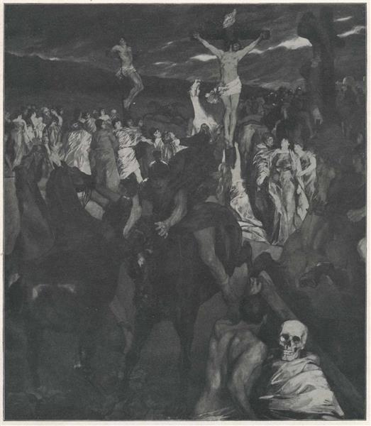 Crucifixion, 1878 - Wilhelm Trübner