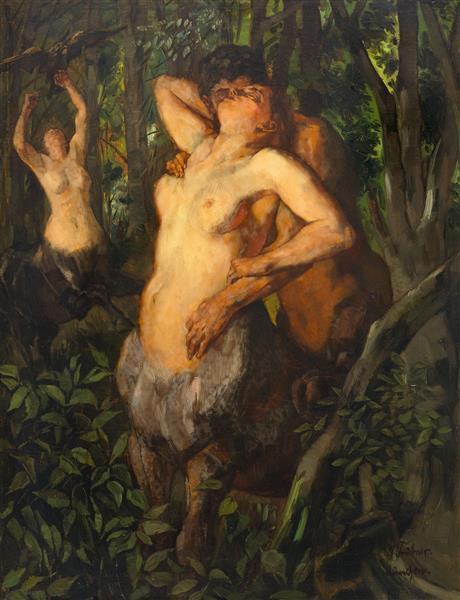 Satyr and Centaurs - Wilhelm Trubner