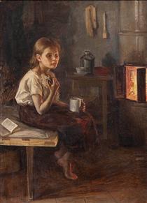 A Girl by the Oven - Elin Danielson-Gambogi