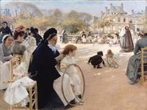 The Luxembourg Gardens, Paris - Альберт Эдельфельт