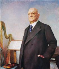 Portrait of Jean Sibelius - Järnefelt, Eero