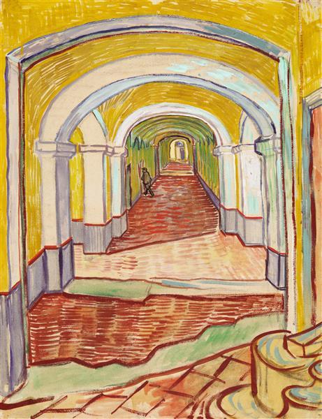 Corridor in the asylum, 1889 - Vincent van Gogh