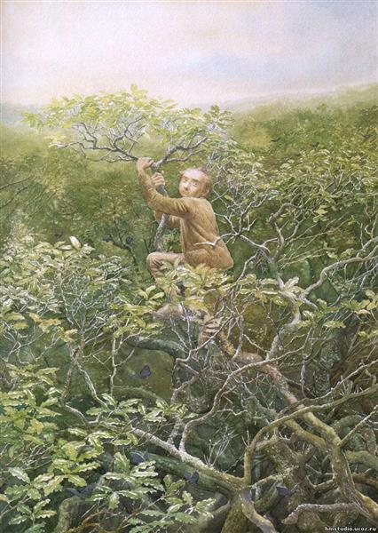 Bilbo Mirkwood Treetops - Alan Lee