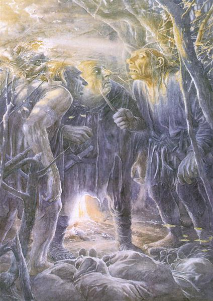 The Trolls See the Dawn - Alan Lee