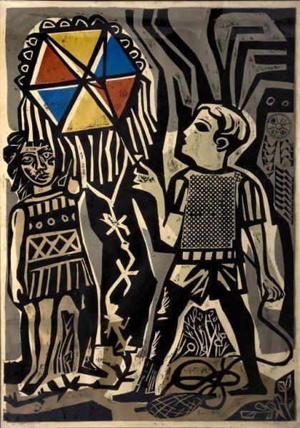 Juanito Remontando Un Barrilete, 1962 - Antonio Berni