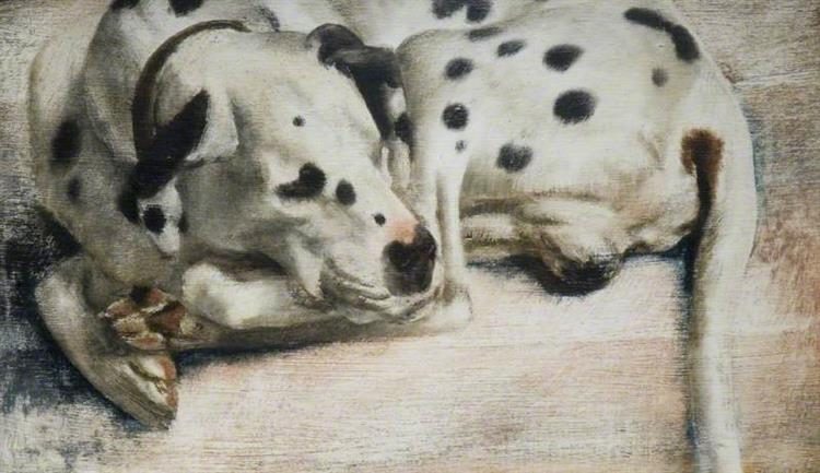 'Grock', a Dalmatian Dog, 1943 - Richard Eurich