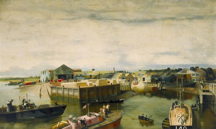 The British Power Boat Company, 1941 - Richard Eurich