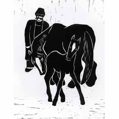 Farmer, Mare, Foal, 1934 - Werner Berg