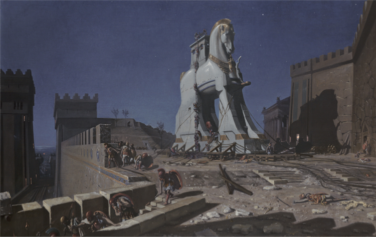 The Trojan horse - Henri-Paul Motte