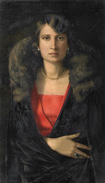Portrait of Frau K. (Frau Krupsig) - Werner Peiner