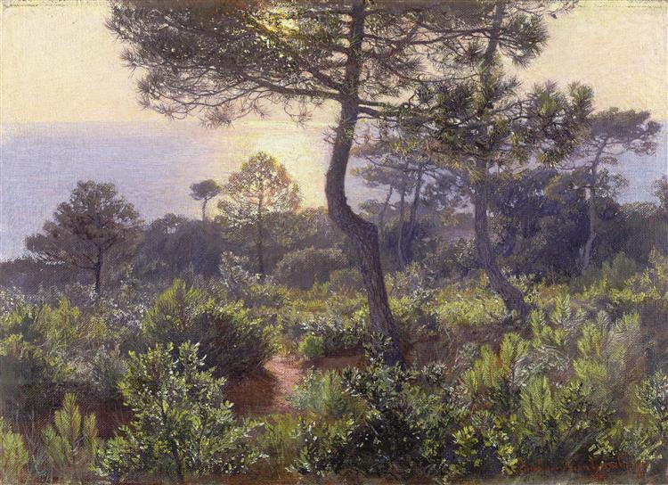 Solnedgång, 1905 - Элин Даниельсон-Гамбоджи