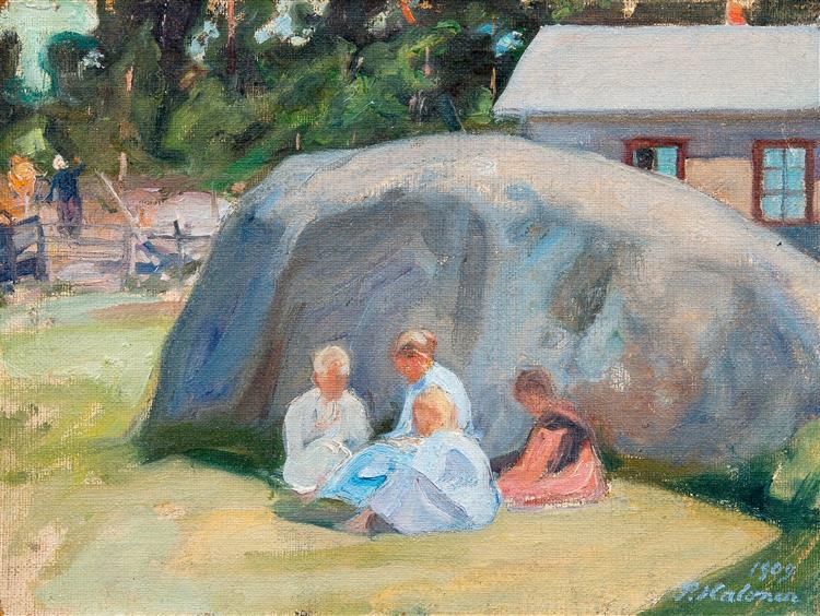 Children Playing in the Yard, 1909 - Pekka Halonen