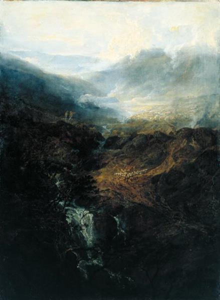 Morning Amongst the Coniston Fells, Cumberland, 1798 - J.M.W. Turner
