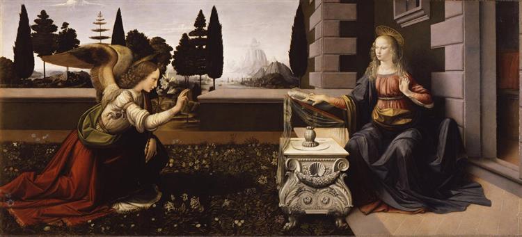 Annunciation, c.1472 - Leonardo da Vinci