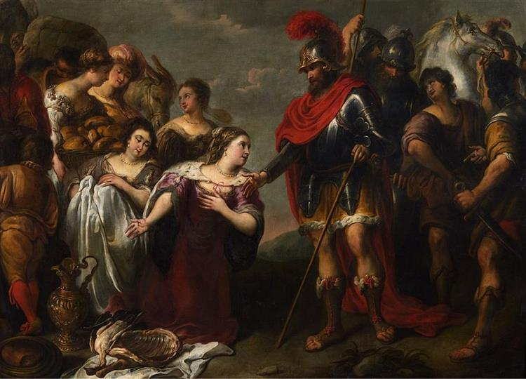 David and Abigail, c.1624 - Jan Cossiers