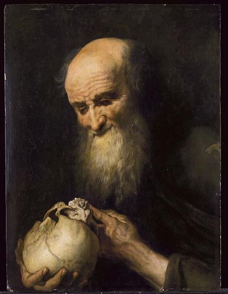 Democritus with a Skull, c.1615 - Jan Cossiers