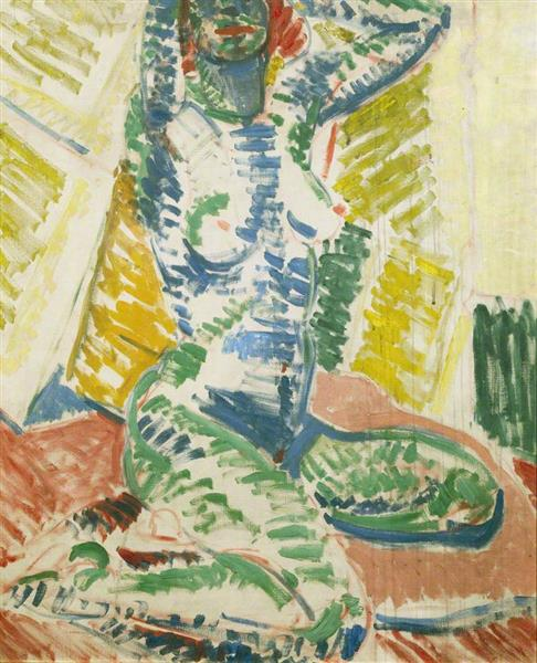Kneeling Nude, 1915 - Matthew Smith