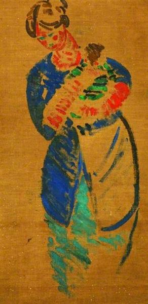 Woman with Child (verso), 1918 - Matthew Smith