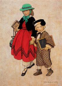 Two Little Girls - Jessie Willcox Smith