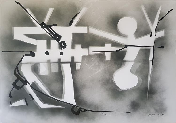 Cubo-Expressionism: In the Mist, 2019 - Alfred Freddy Krupa