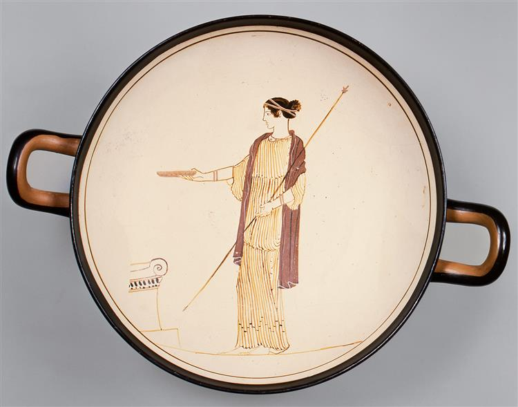 Terracotta Kylix (drinking Cup) - Ancient Greek Painting