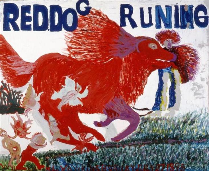 Red Dog Running #3, 1986 - William Hawkins