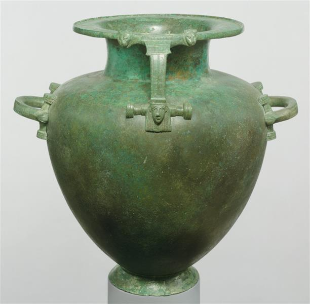 Bronze Hydria (water Jar), c.600 BC - Ancient Greek Pottery