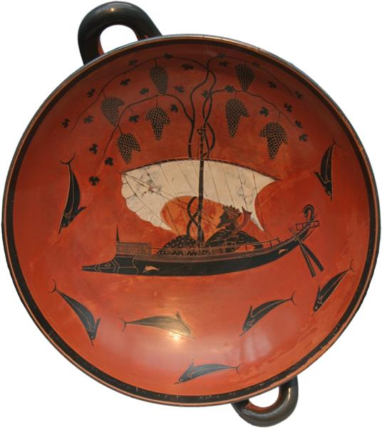 Dionysos-Schale, c.530 BC - Ancient Greek Pottery