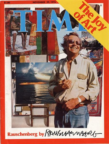 Cover for TIME Magazine—November 29, 1976, 1976 - Robert Rauschenberg