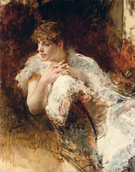 Portrait of a Lady - Telemaco Signorini