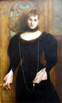 Portrait of Lady Kreismann - Gustave-Claude-Etienne Courtois