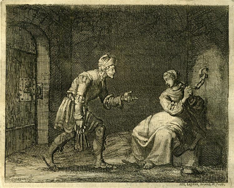 Martyrdom of Felicitas of Tuburbia in Mauretania, AD 201, 1685 - Jan Luyken