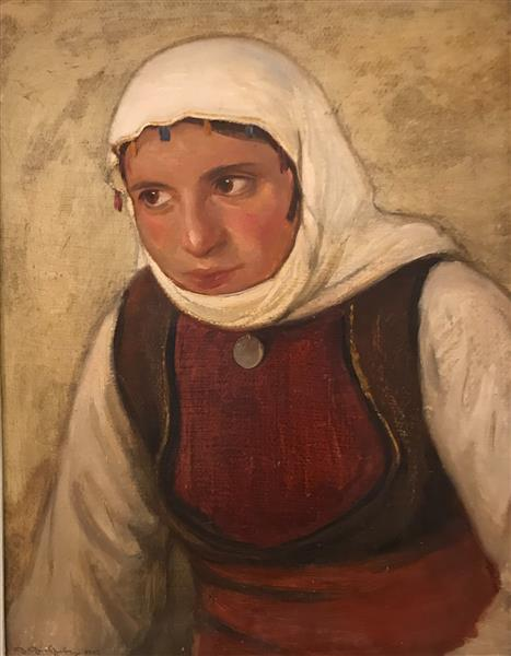 Macedonian Woman from Openica, 1942 - Dobri Dobrev