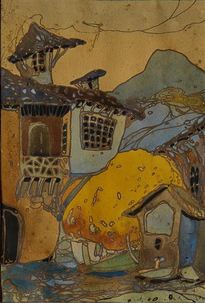 Landscape, 1919 - Ivan Milev