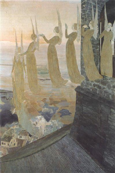 Evening bells, 1895 - Carlos Schwabe