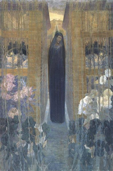 La douleur, 1893 - Carlos Schwabe