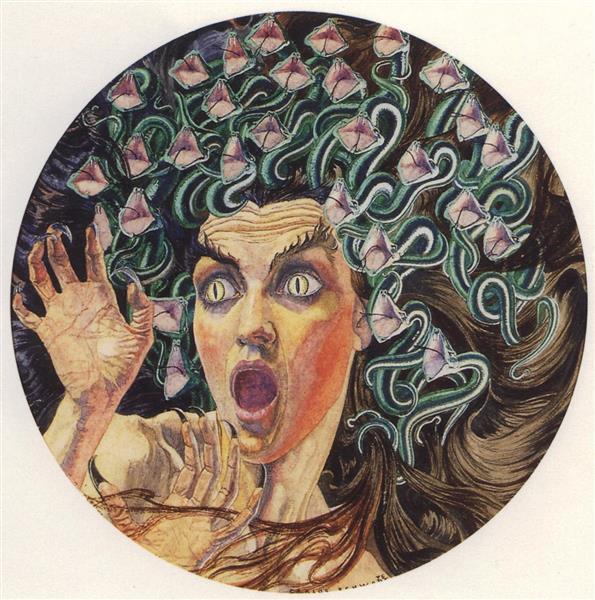 Medusa, 1895 - Carlos Schwabe