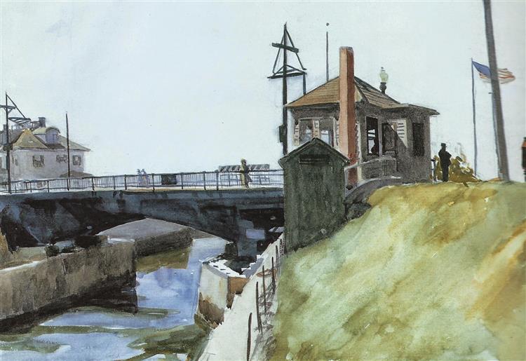 Blynman Bridge, 1923 - Edward Hopper